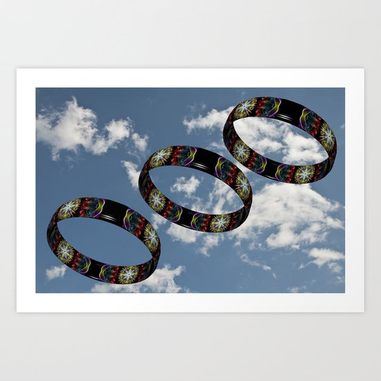 Smoke Rings in the Sky 1 Art Print