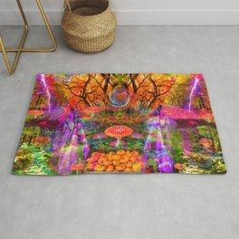 Hypnotic Autumn Magic Rug
