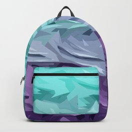 Purple Turquoise Layers Backpack