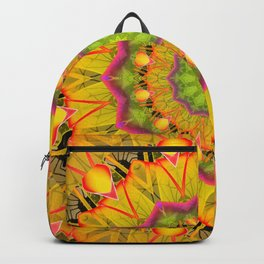 Beach Grass Golden Red Foliage Abstract Fall Days Backpack
