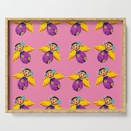 Mexican Angels Hot Pink Serving Tray