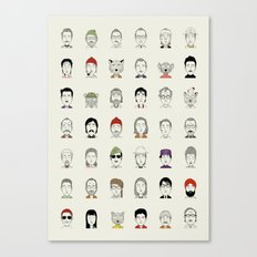 The Characters of W Canvas Print