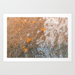 Water and foil Art Print
