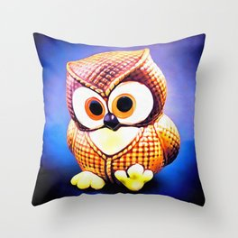Ceramic Owl Throw Pillow