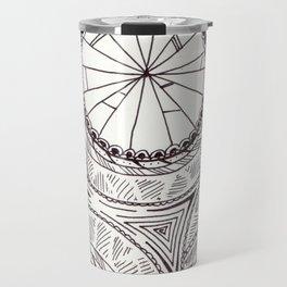 Geometric Circles Travel Mug