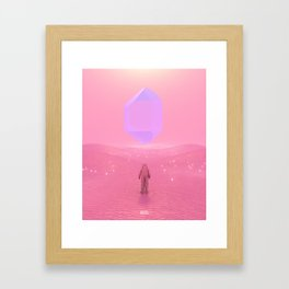 Lost Astronaut Series #03 - Floating Crystal Framed Art Print