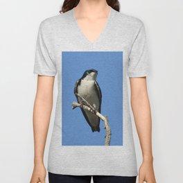 Male Tree Swallow Unisex V-Neck