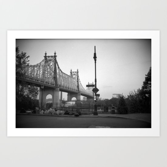 Woody Allen New York, Manhattan Art Print
