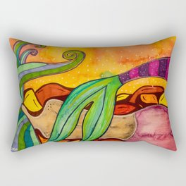 Sleepy Mermaid Rectangular Pillow