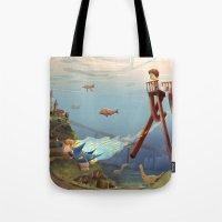 sandman Tote Bags featuring Sandman by Maxime Lebrun