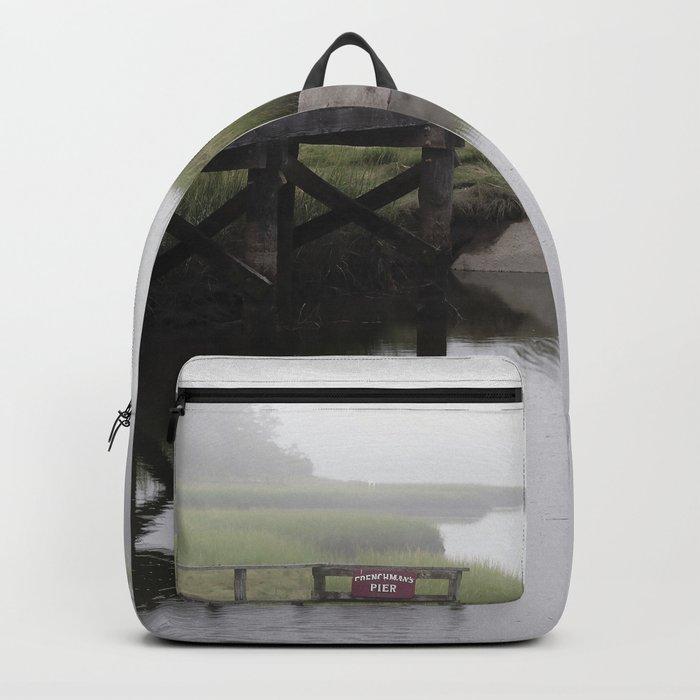 Foggy little river Backpack