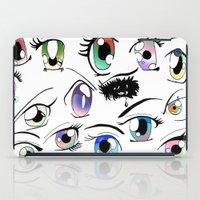 manga iPad Cases featuring Manga Eyes by TAEMI.