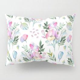 Flower pattern: watercolor Pillow Sham