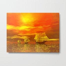 Segelschiffe im Sonnenschein Metal Print