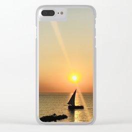 Zanzibar sunset in September Clear iPhone Case