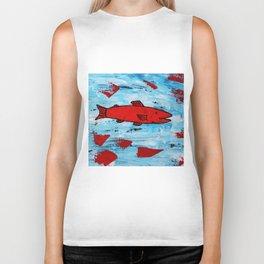 Red Fish Biker Tank