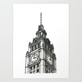 Triptych 1 - Wrigley Building - Original Drawing Art Print