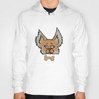 yorkie Hoodies featuring New Yorkie by Brianna Heyer
