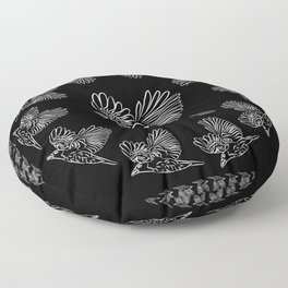 World crows. Crows in different framework, round, square. Floor Pillow