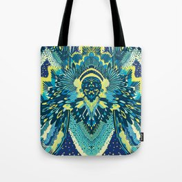 Blue Miami Tote Bag