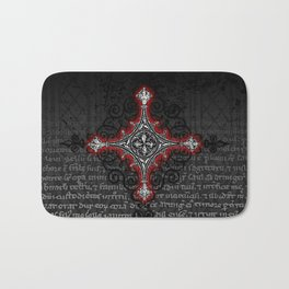 Noble House II CRUSADER RED / Grungy heraldry design Bath Mat