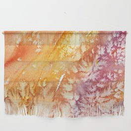 Apricot Rose Abstract Design Wall Hanging