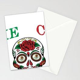 Mexico Soccer Sugar Skull Stationery Cards