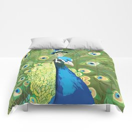 The Majestic Peacock Comforters