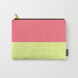 Modern neon lime yellow blush pink coral colorblock Carry-All Pouch