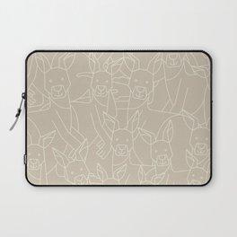 Minimalist Kangaroo Laptop Sleeve