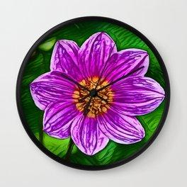 Garden Cosmos Dream   Painting Wall Clock