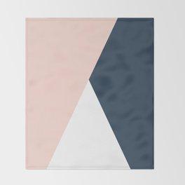 Elegant blush pink & navy blue geometric triangles Decke