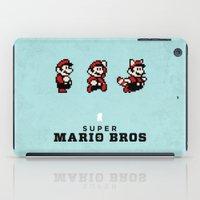 mario bros iPad Cases featuring Super Mario Bros 3 by Brandon Riesgo