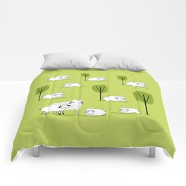 Spring and easter time with sheep Comforters