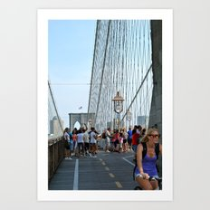 Summer on the Brooklyn Bridge Art Print