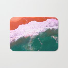 Water Print, Ocean Art Print, Sea, Wave, Wall Art Decor, Bathroom Print, Blue Water Poster, Bathroom Bath Mat