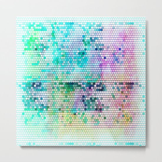 Fancy dots colorful abstract modern pattern Metal Print