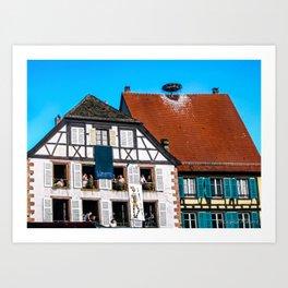 Windows - Colmar France Art Print