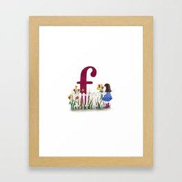 f is for fence Framed Art Print