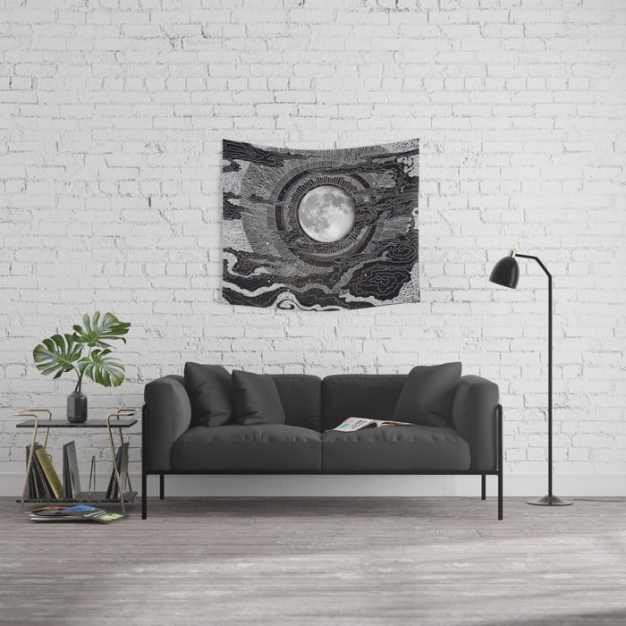 Moon Glow Tapestry by brenda erickson Editions