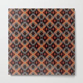 Reto Geometric in gray Metal Print