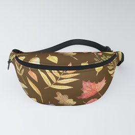 Autumn Fruits Leaves Pattern Fanny Pack