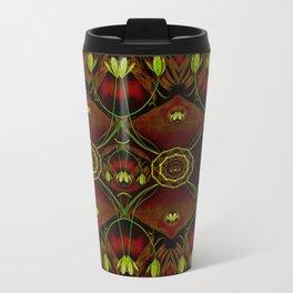 Lether and decorative florals pattern Travel Mug