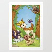 Movie Poster - Bambi Art Print