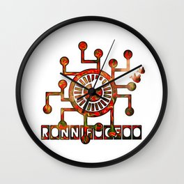 Poppy Conduit Wall Clock