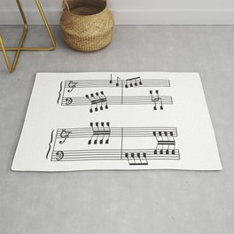 Rowing & Music 3 - Rowing with notes on the Music sheets Rug