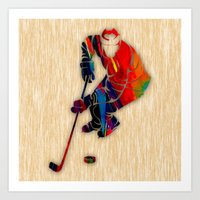 hockey Art Prints featuring Hockey by marvinblaine