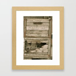 Dairy Crate Framed Art Print
