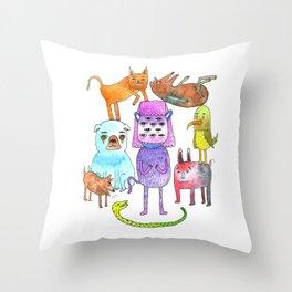 Animal Pyramid Throw Pillow