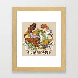 I Heart Dinosaurs Framed Art Print